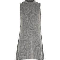 River Island Girls grey ribbbed longline tank top