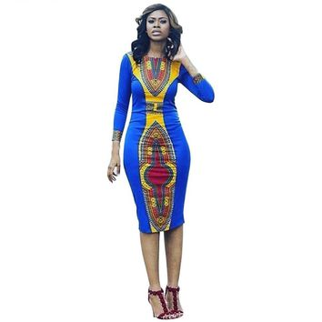 Njadaka African Print Dress for Women