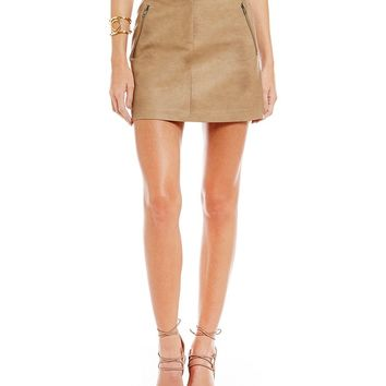 J.O.A. Faux-Leather A-line Skirt | Dillards