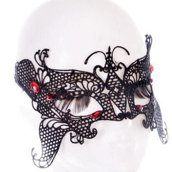 Princess Mask Women/Girls Sexy Lace Eye Mask For Halloween/ Masquerade Party-359