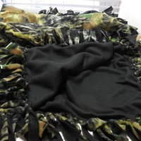 Camouflage Fleece Lap Throw