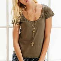 BDG Solid Scoop-Neck Tee-