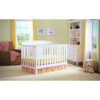 Delta Gateway 4-in-1 Fixed-Side Convertible Baby Crib Nursery Furniture White