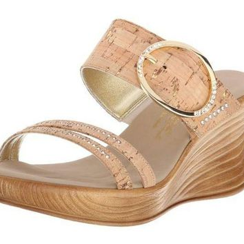 MDIGYW3 Onex Cynthia Wedge Cork Sandals