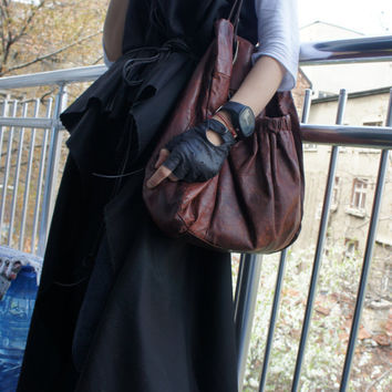Cashmere Black  Coat Vest no Sleeves  High Quality fabric Two Different Belts / Made to Order