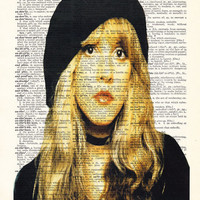 Stevie Nicks GYPSY-  Celebrity Art Gift Poster- Fleetwood Mac- Gift For wife- Husband GIFT- birthday Gift-  Boyfriend Gift - Dorm decor