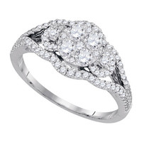 Diamond Fashion Bridal Ring in 14k White Gold 0.75 ctw