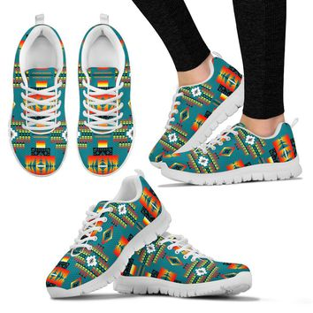 Seven Tribes Teal Sopo WOMEN'S Sneakers White Sole Tennis Shoes