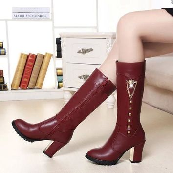 ac PEAPON On Sale Hot Deal High Heel Zippers Boots [9257017356]