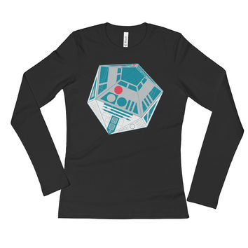 R2-D20 Star Wars Twenty Sided Gaming Die Ladies' Long Sleeve T-Shirt