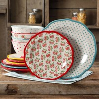 The Pioneer Woman Timeless Floral and Retro Dot Mix and Match 12-Piece Dinnerware Set - Walmart.com