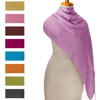 Large Vietnamese Silk Soft Wrap Scarf Shawl Pashmina 70x30 inches New from Vietnam
