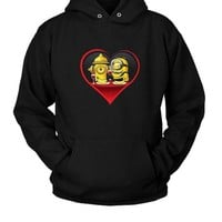 Minion In Love Hoodie Two Sided