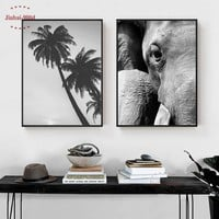 900D Posters And Prints Wall Art Canvas Painting Wall Pictures For Living Room Nordic Poster Elephant Decoration Pictures NOR087