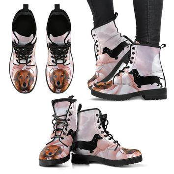 Valentine's Day Special Dachshund Print Boots For Women-Free Shipping