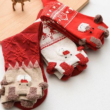 Cute Santa Claus Deer Socks Funny Crazy Cool Novelty Cute Fun Funky Colorful