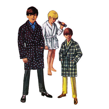 "1960's Simplicity 8471 Boy's Robe Size 8 || Chest 26""/ 66cm 