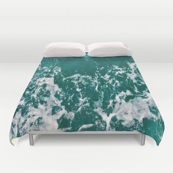 Emerald Waters Duvet Cover by ARTbyJWP