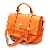 Pree Brulee - Lady Cambridge Satchel - Orange