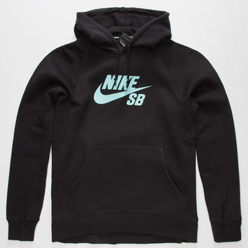 Nike Sb Mint Flash Icon Mens Hoodie Black  In Sizes