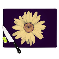 "Robin Dickinson ""Half Crazy"" Black Yellow Cutting Board"