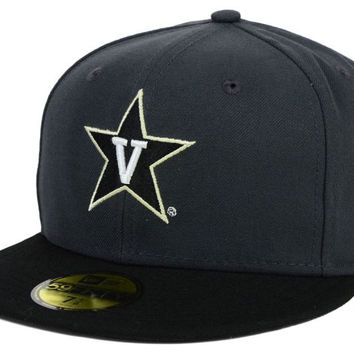 Vanderbilt Commodores NCAA 2 Tone Graphite and Team Color 59FIFTY Cap