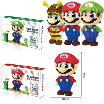 DIY Building Bricks 12in Large Size  Collection Magic Blocks Figure Pokeball Micro Blocks Collection Kids Toys