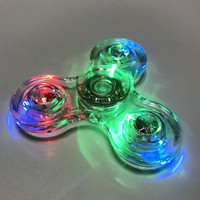 LED Fidget Spinner - Hand Spin Focus Toy, Stress Reliever, ADHD, EDC, Anxiety Reducer - Clear