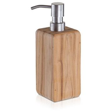 MV Teak Wood Bathroom Standing Pump Liquid Soap Lotion Dispenser