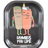 SMOKE ARSENAL ROLLING TRAY SMALL 7'' X 5.5'' - HOMIES