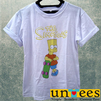 Low Price Women's Adult T-Shirt - The Simpsons Bart Simpsons design