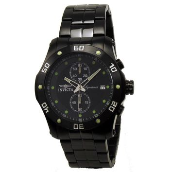 Invicta 7387 Men's Signature II Black Ion Plated Black Dial Chronograph Watch