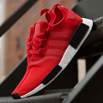 Adidas NMD R1 Runner Nomad Clear Red Black White Bred Pack BB1970 Boost Sport Running Shoes Classic Casual Shoes Sneakers-1