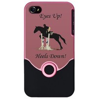 Eyes Up! Heels Down! Horse iPhone Case by Pattyspetart