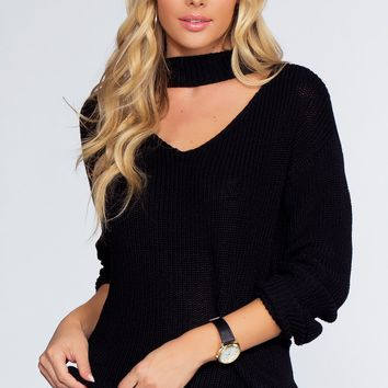 Bonfire Babe Sweater - Black