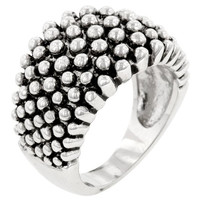 Studded Metal Ring, size : 10