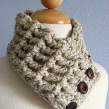 Womens Textured Scarflette Cowl Neckwarmer by TwoSeasideBabes