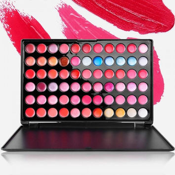 Multicolored 66 Color Cosmetic Makeup Lipstick Palette