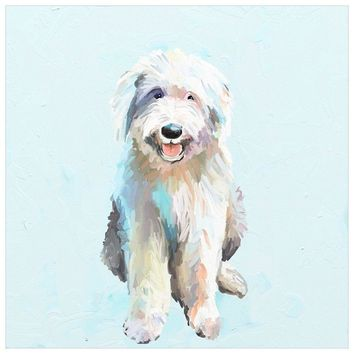 Best Friend - English Sheep Dog Wall Art