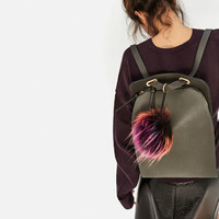 POMPOM CROSSBODY BACKPACKDETAILS