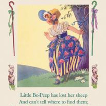 Little Bo-Peep: Fine art canvas print (12 x 18)