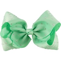 "Rhinestone 8"" Hair Bow, Mint"