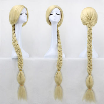 47 inches Straight Blonde Rapunzel Wig