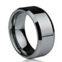 TUNGSTEN RINGS FOR MEN SIZE 11 - (Tungsten Carbide Ring 8mm) High Quality Polished Tungsten wedding band, Tungsten wedding ring or Anniversary Ring. Tungsten Mens Rings are comfort fit