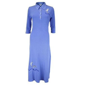 DCCKJY1 Dolphin Breaching Women's Polo Dress