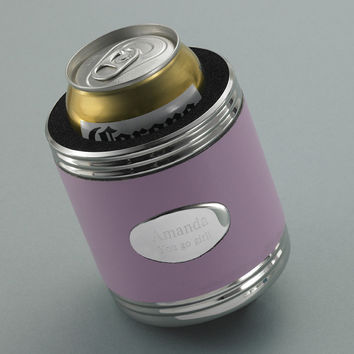 Personalized Pink Leather Koozie for your Bridesmaid