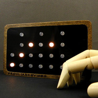 Binary Clock, 24-hour clock, WHITE LED, choose your front color, gray front, personalized clock