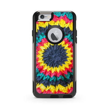 Multicolored Crochet Circle Skin for the Apple iPhone Otterbox Commuter Case