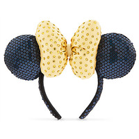 Minnie Mouse Sequined Ear Headband - Golden Faceted Gems | Disney Store