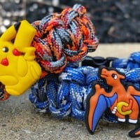 POKEMON CHARZARD, PIKACHU AND OTHER CHARACTERS PARACORD BAND